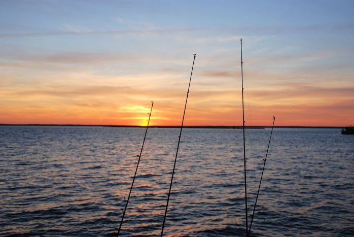fishrodsunset